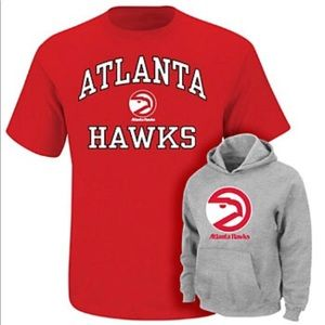 Atlanta hawks hoodie and shirt set